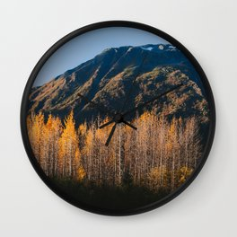 Autumn in Kenai Fjords National Park II Wall Clock