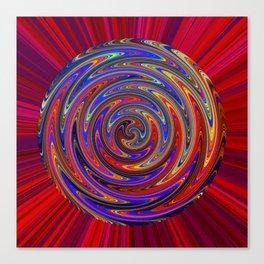 Swirly Twirly Colorful Lollipop Canvas Print