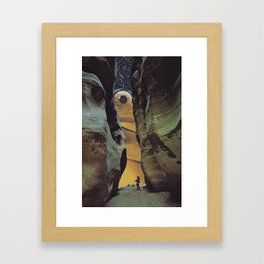 There it was Framed Art Print