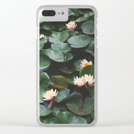 Echo Park Waterlillies Clear iPhone Case