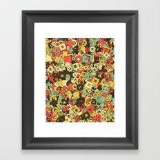 Nineteen Shapes Framed Art Print