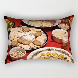 Appetizing Feasts #1 Rectangular Pillow