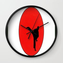 Art Of Karate Print Wall Clock