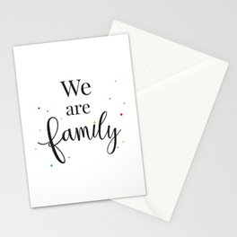 We are family Stationery Cards