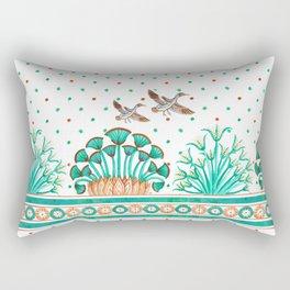 Lotus and Papyrus Rectangular Pillow