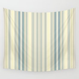 Seafoam Green Yellow Stripes Wall Tapestry