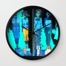 Lingerie Sportswear Collection in inverse Wall Clock