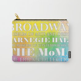 New York City arts - white Carry-All Pouch