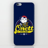 league iPhone & iPod Skins featuring Onett little league by TeeKetch