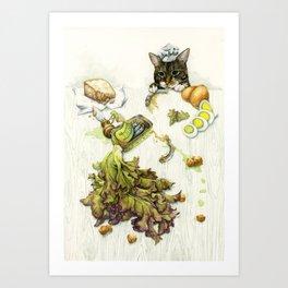 Caesar Salad Art Print