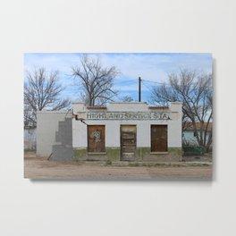 Abandoned Gas Station in Marfa, Texas Metal Print