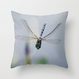 Dragonfly Smiles Throw Pillow