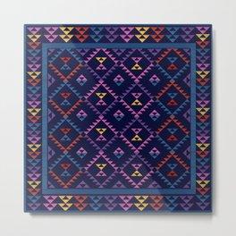 Bohemian Kilim Ethnic Pattern 1 Metal Print