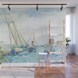 Marine Scene (Boats near Venice) by Henri-Edmond Cross1903, French Wall Mural