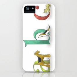 alphabet dogs iPhone Case