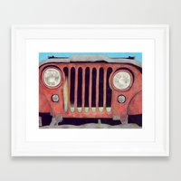 jeep Framed Art Prints featuring Jeep by Shannon Rutherford