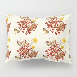 Autumn Moth Musings 3D Jeweled Pillow Sham