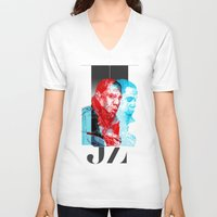 jay z V-neck T-shirts featuring JAY-Z by michael pfister