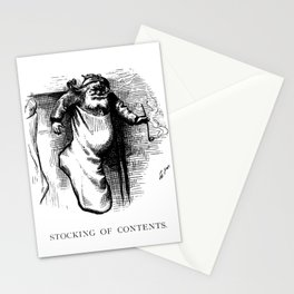 Stocking of Contents - Thomas Nast Stationery Cards