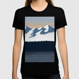 Olympic Mountains Sunset 2 T-shirt
