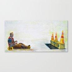 construction man on break Canvas Print