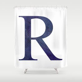 House Pride - R - Striped Watercolour (Bronze) Shower Curtain