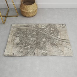 Vintage Map of Florence Italy (1847) Rug