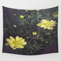 daisies Wall Tapestries featuring Daisies  by Katie Jean Images