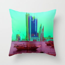 BFH, bahrain Throw Pillow