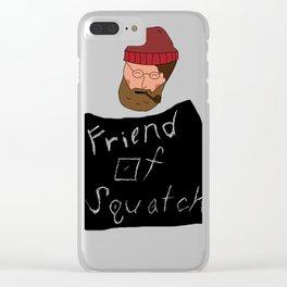 Friend of Squatch Clear iPhone Case