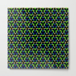 Brazilian Triangles Metal Print