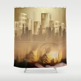 Ideas create innovation leading to civilization Shower Curtain