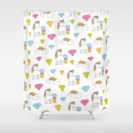 Cute unicorns Shower Curtain