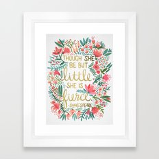 Little & Fierce Framed Art Print