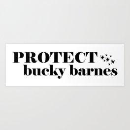 Protect Bucky Barnes Art Print