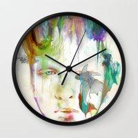 archan nair Wall Clocks featuring Organic by Archan Nair