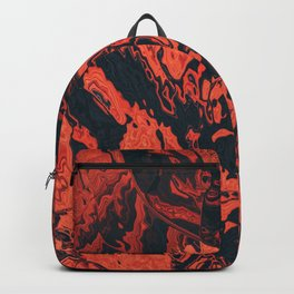 The fire curls up Backpack