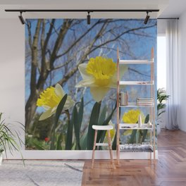 Daffodils in the sky Wall Mural