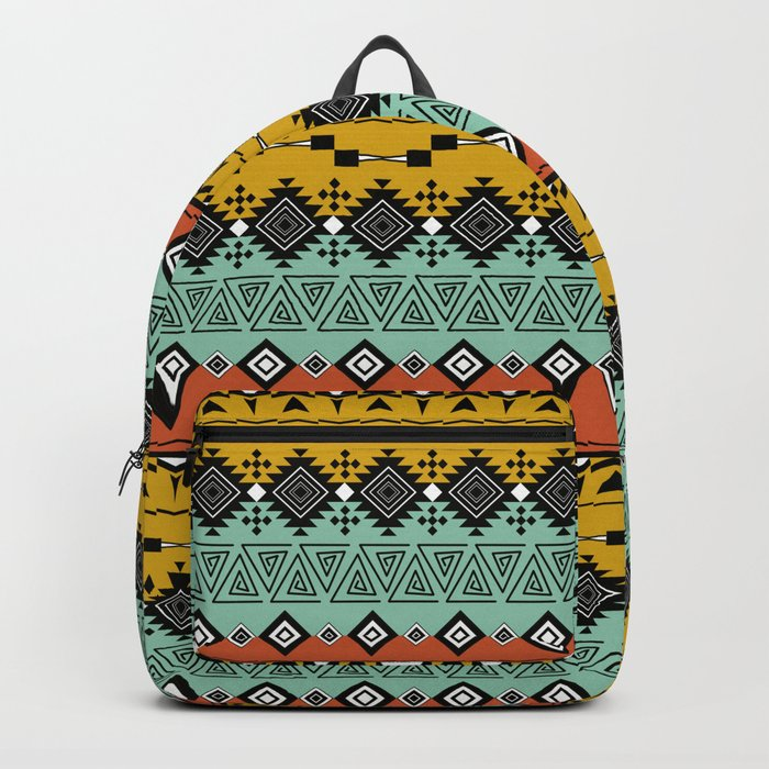 Colorful Aztec pattern. Backpack