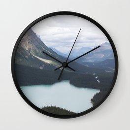 Glacial Lake Jasper Wall Clock