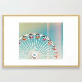 2019 Pacific Park Santa Monica Pier Framed Art Print