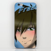 iwatobi iPhone & iPod Skins featuring Free! Iwatobi Swim Club: Makoto by herpyderpymegu