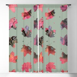 Falling leaves Blackout Curtain