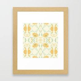 Yellow spring flowers Framed Art Print