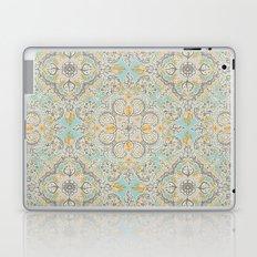 Gypsy Floral in Soft Neutrals, Grey & Yellow on Sage Laptop & iPad Skin