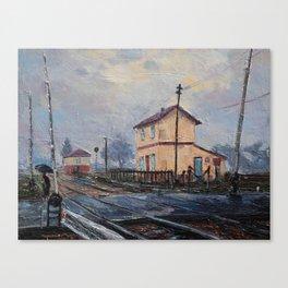 Italian train station Canvas Print