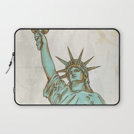 statue of liberty hand dawn Laptop Sleeve
