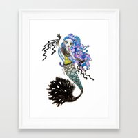 monster high Framed Art Prints featuring Sirena Von Boo - Monster High by Amana HB