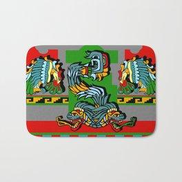 Quetzalcoatl of two heads Bath Mat