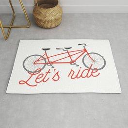Let's Ride Tandem Bicycle - Red Rug
